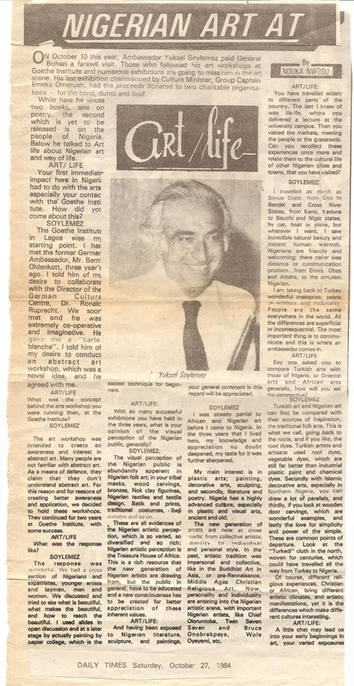 Daily Times, 27/10/1984