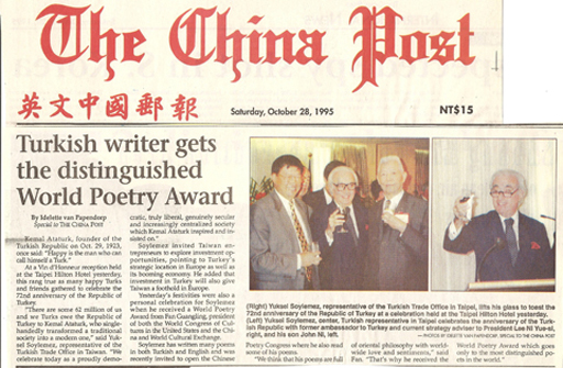 The China Post, 28/10/1995