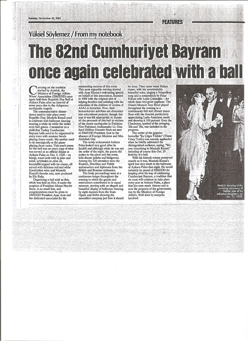 The 82nd Cumhuriyet Bayram Once Again Celebrated With A Ball, 20/11/2005